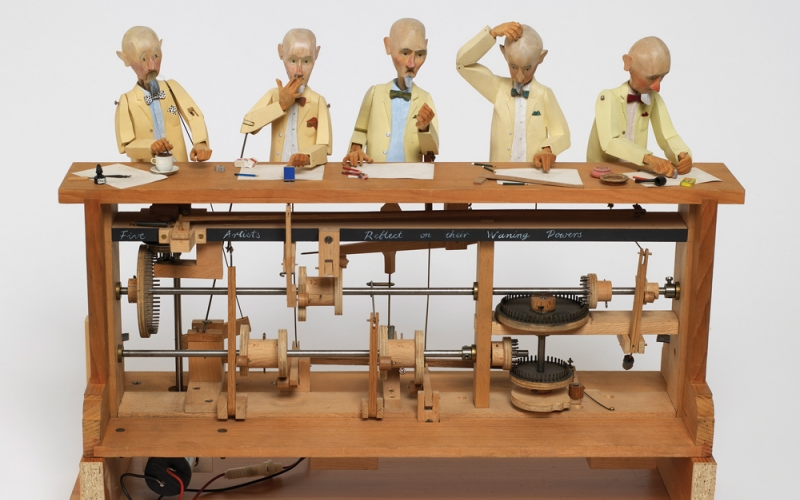 A CURIOUS TURN: MOVING MECHANICAL SCULPTURE