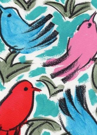 PERCY LIZZARD - 4 Birds